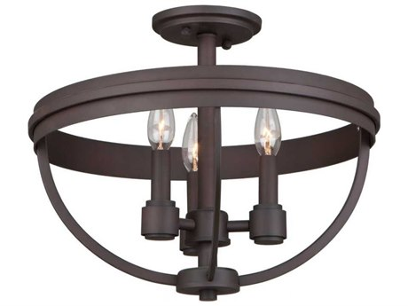 Artcraft Lighting Roxbury Oil Rubbed Bronze Three-Light 16'' Wide Semi-Flush Mount Light ACAC10693OB
