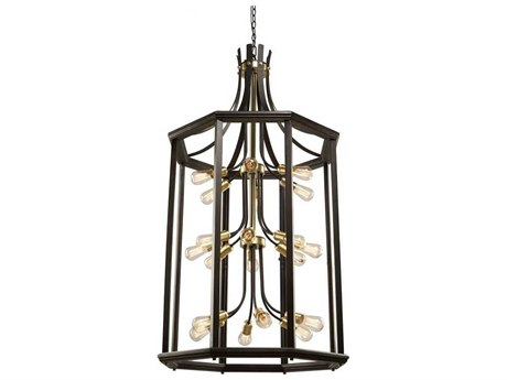 Artcraft Lighting Sandalwood Satin Brass 20-Light 30'' Wide Chandelier ACAC11220SB