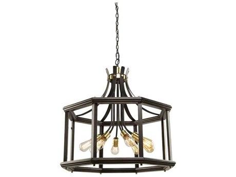 Artcraft Lighting Sandalwood Satin Brass Eight-Light 29'' Wide Chandelier ACAC11228SB