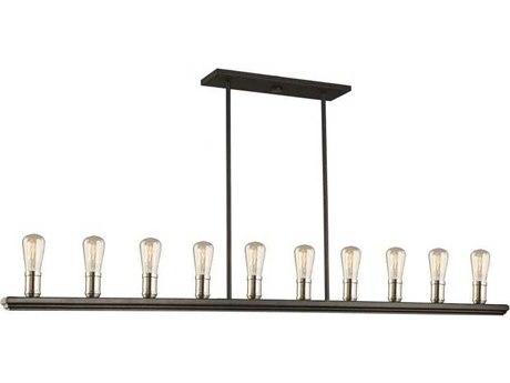 Artcraft Lighting Sandalwood Brushed Nickel Ten-Light 60'' Wide Island Light