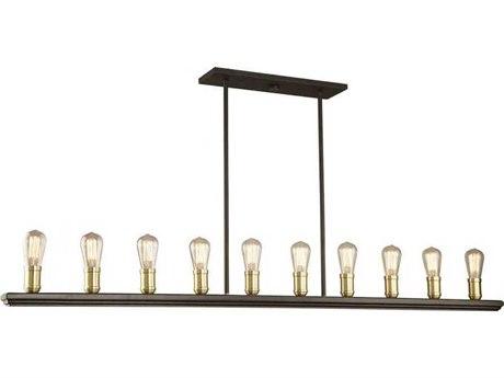 Artcraft Lighting Sandalwood Satin Brass Ten-Light 60'' Wide Island Light ACAC11350SB