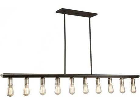 Artcraft Lighting Sandalwood Brushed Nickel Ten-Light 60'' Wide Island Light ACAC11351BN