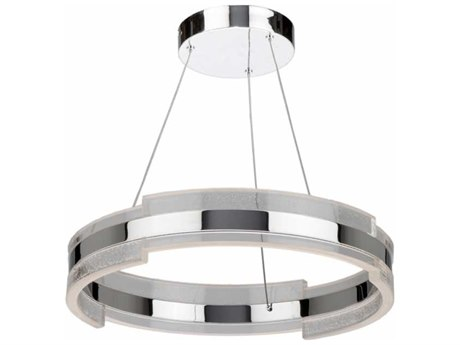 Artcraft Lighting Saturn Chrome & Clear 20'' Wide LED Pendant Light ACAC7470CH