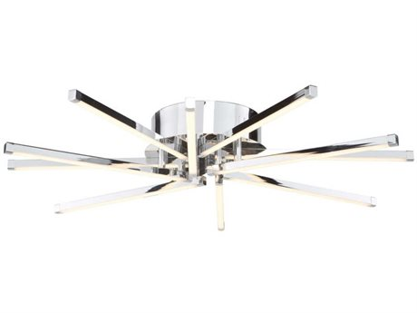 Artcraft Lighting Shooting Star Chrome 19'' Wide LED Flush Mount Light ACAC7980