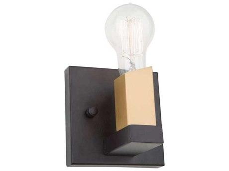 Artcraft Lighting Skyline Dark Bronze / Satin Brass 5'' Wide Wall Sconce