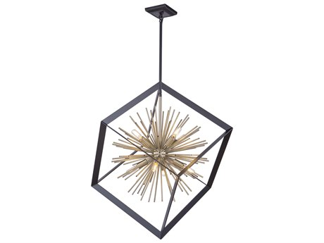 Artcraft Lighting Sunburst Matte Black / Satin Brass 31'' Wide Pendant ACAC11440
