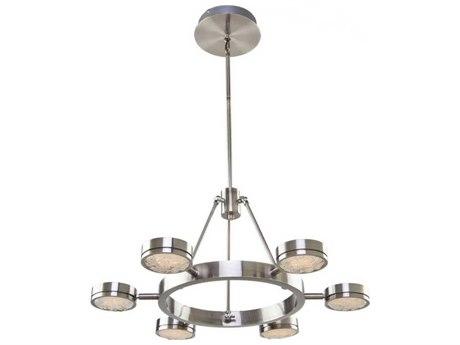 Artcraft Lighting Terranova Black Pearl Nickel Six-Light 27'' Wide LED Chandelier ACAC7546