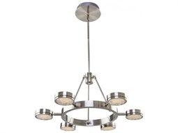 Terranova Black Pearl Nickel Six-Light 27'' Wide LED Chandelier