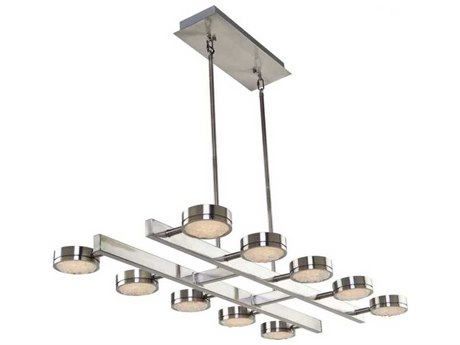 Artcraft Lighting Terranova Black Pearl Nickel Ten-Light 40'' Wide LED Island Light ACAC7540