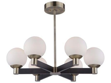 Artcraft Lighting Tilbury Matte Black / Brass 28'' Wide LED Medium Chandelier ACAC7096VB