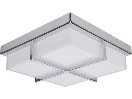 Artcraft Lighting Tranquility Chrome 10'' Wide LED Flush Mount Light