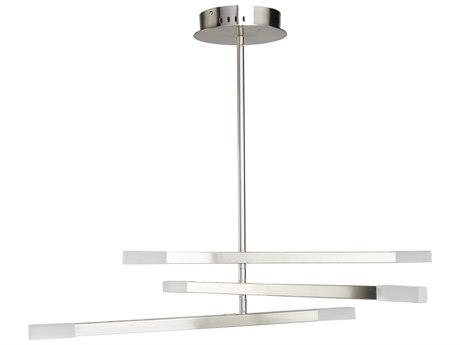 Artcraft Lighting Twig Satin Nickel 31'' Wide Glass LED Pendant ACSC13096SN