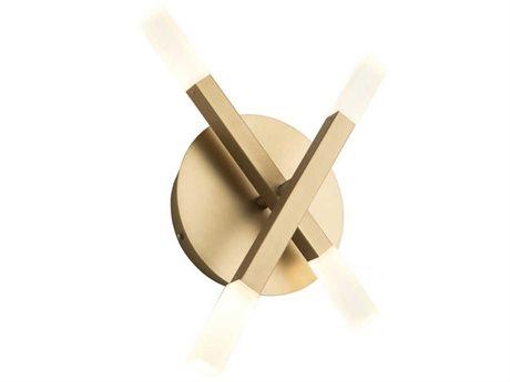 Artcraft Lighting Twig Brushed Gold Glass LED Wall Sconce ACSC13094BG