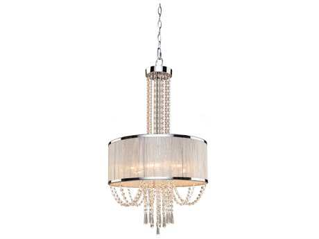 Artcraft Lighting Valenzia Chrome Six-Light 19'' Wide Chandelier ACAC10385