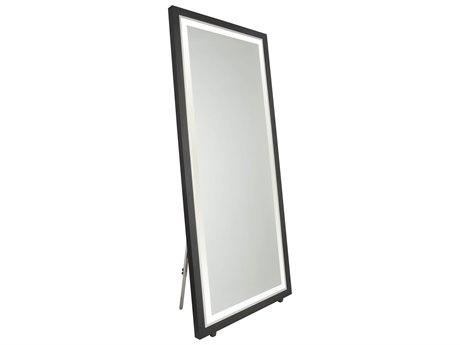 Artcraft Lighting Valet Matte Black Floor Mirror ACSC13108