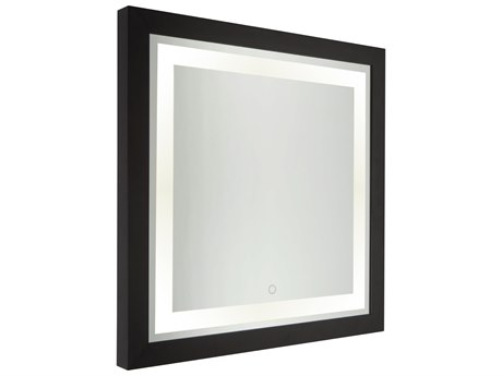 Artcraft Lighting Valet Matte Black Wall Mirror