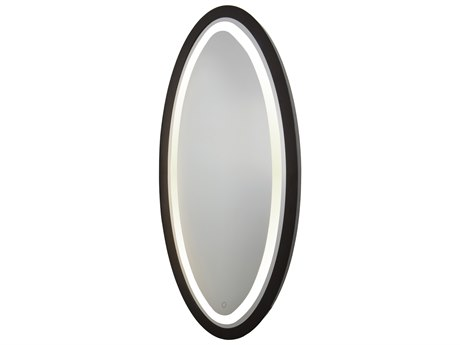 Artcraft Lighting Valet Matte Black Wall Mirror ACSC13110