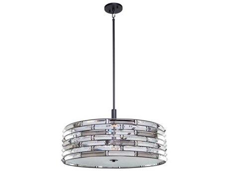 Artcraft Lighting Vero Black Six-Light 24'' Wide Pendant Light ACAC11267