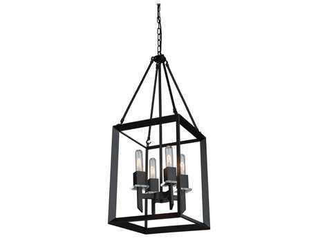 Artcraft Lighting Vineyard Matte Black Four-Light 12'' Wide Chandelier ACAC10064