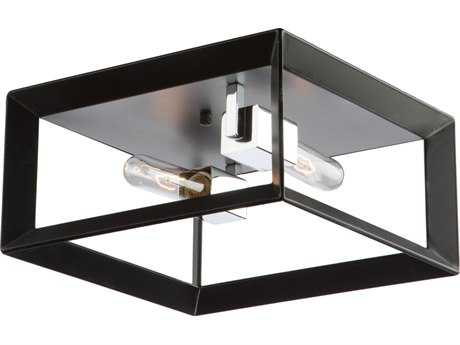 Artcraft Lighting Vineyard Black & Chrome Two-Light 12'' Wide Flush Mount Light ACAC10063BC