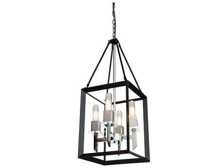 Artcraft Lighting Vineyard Black & Chrome Four-Light 12'' Wide Mini Chandelier