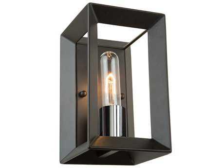 Artcraft Lighting Vineyard Black & Chrome 5'' Wide Wall Sconce ACAC10060BC
