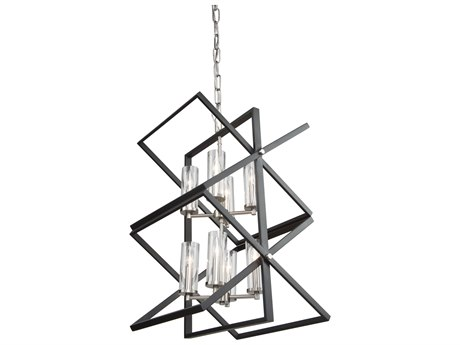 Artcraft Lighting Vissini Matte Black / Polished Nickel 18'' Wide Mini Chandelier