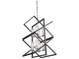 Vissini Matte Black / Polished Nickel 18'' Wide Mini Chandelier