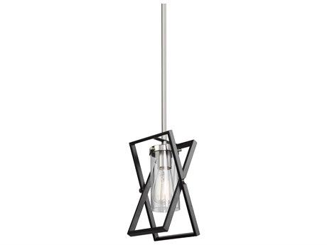 Artcraft Lighting Vissini Matte Black / Polished Nickel 6'' Wide Mini Pendants