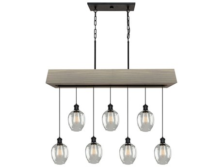 Artcraft Lighting Willow Beach Wood 7-light 44'' Wide Island Light