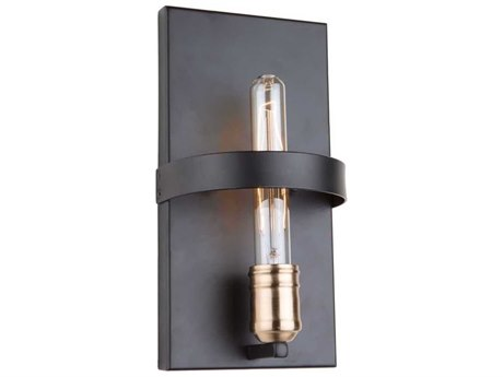 Artcraft Lighting Willow Dark Bronze / Vintage Brass 6'' Wide Wall Sconce ACAC11091