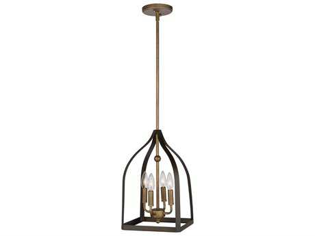 Artcraft Lighting Worthington Oil Rubbed Bronze & Antique Gold Four-Light 10'' Wide Mini Chandelier ACAC11010