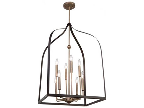 Artcraft Lighting Worthington Oil Rubbed Bronze / Antique Gold Eight-Light 20'' Wide Mini Chandelier ACAC11018