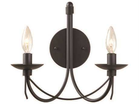 Artcraft Lighting Wrought Iron Black Two-Light Wall Sconce ACAC1482EB