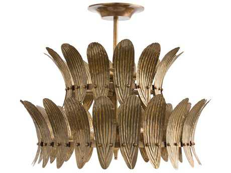 Arteriors Home Analise Vintage Brass 26'' Wide Eight-Light Chandelier ARH84310