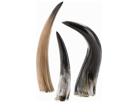 Arteriors Home Bernard Natural Horns Sculpture (Set of Three Horns) ARH6323