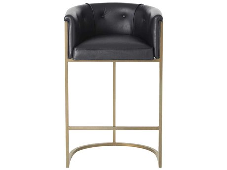 Arteriors Home Calvin Black Arm Bar Height Stool ARH2670
