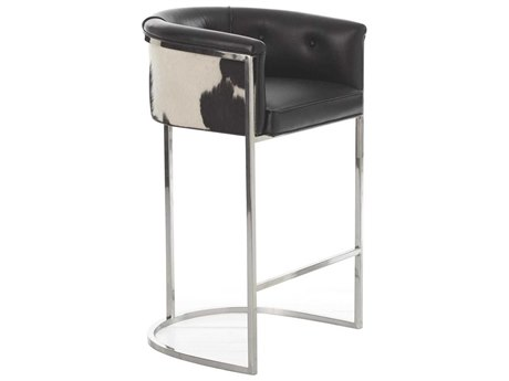 Arteriors Home Calvin Black / White Arm Bar Height Stool ARH2750