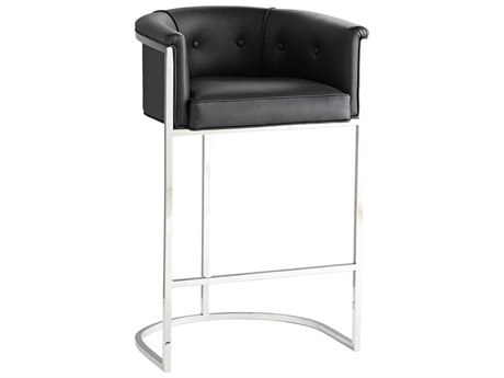 Arteriors Home Calvin Polished Nickel Arm Bar Height Stool ARH6890