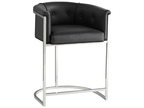 Arteriors Home Calvin Black Arm Counter Height Stool ARH6889