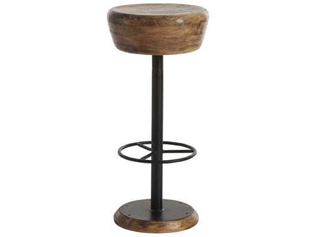 Arteriors Home Caymus Natural Wood with Natural Iron Bar Stool ARH6121