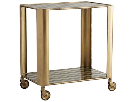 Arteriors Home Celerie Kemble Vintage Brass Cart