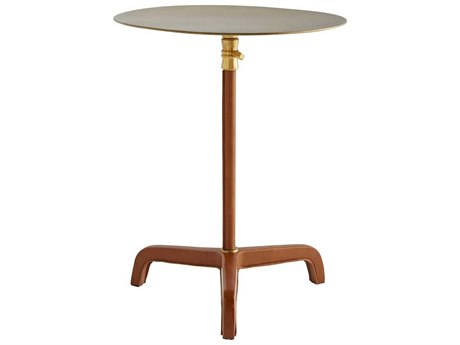 Arteriors Home Celerie Kemble Antique Brass 14'' Wide Round Pedestal Table