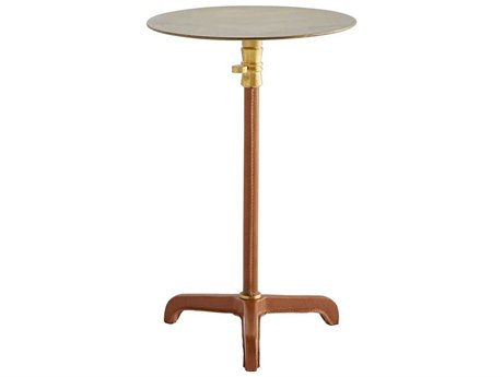 Arteriors Home Celerie Kemble Antique Brass 10'' Wide Round Pedestal Table
