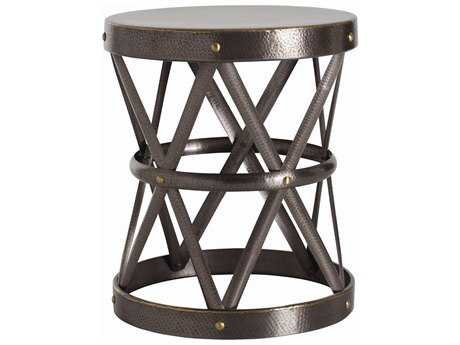 Arteriors Home Costello Natural Iron with Brass Welds 21.5'' Round Drum Table ARH6777
