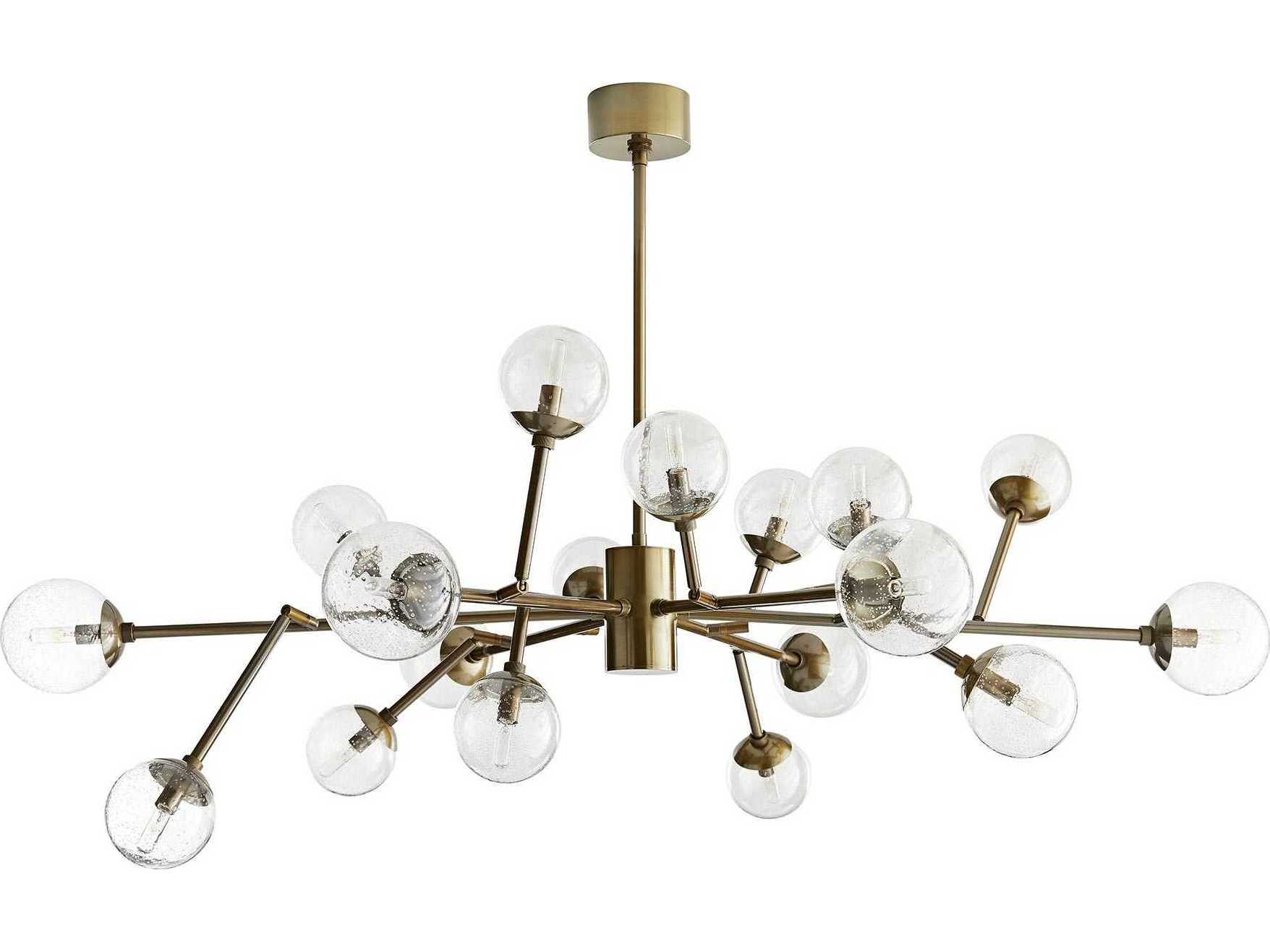 Arteriors Home Dallas Vintage Br With Seedy Gl 18 Lights 45 Wide Grand Chandelier