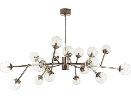 Arteriors Home Dallas Brown Nickel with Smoke Glass 18-Lights 45'' Wide Grand Chandelier ARH89981