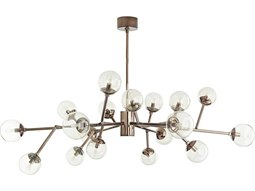 Dallas Brown Nickel with Smoke Glass 18-Lights 45'' Wide Grand Chandelier