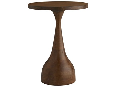 Arteriors Home Darby Dark Walnut 18'' Round Pedestal Table ARH2589