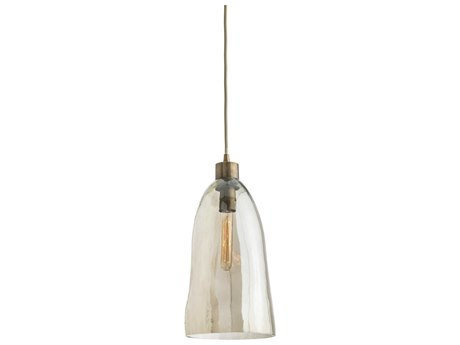 Arteriors Home Doreen Smoke Luster 8'' Wide Glass Pendant ARH44084